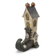 """Witch Boot House LED Halloween Decoration 14"""""""
