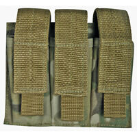 NEW Military Style Tactical Triple Pistol Magazine MOLLE Pouch GENUINE MULTICAM