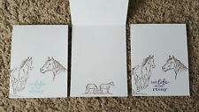 New listing 3 Handmade Stampin Up Let it Ride Greeting Cards, Teal, Blue, Purple