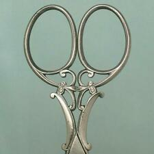 Ornate Antique Cut Steel Embroidery Scissors * French * Circa 1900s