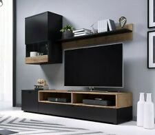 Wohnwand Patty Anbauwand TV Board Wohnzimmer LED Beleuchtung Mediaschrank M24