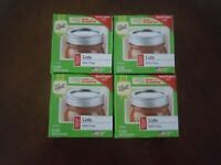 LOT OF 4 PACKS NEW BALL REGULAR MOUTH MASON JAR CANNING LIDS 12 EACH 48 PC TOTAL