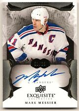 MARK MESSIER RANGERS NHL EXQUISITE COLLECTION AUTO AUTOGRAPH , 01/25, FIRST CARD