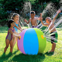 Inflatable Water Spray Ball Sprinkler Toys Kids Pool Lawn Beach Outdoor Child
