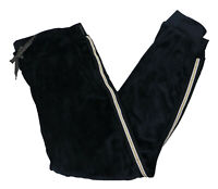 Ideology Big Girls Velour Side Stripe Jogger Pants XL/16 Black NWT $34.50