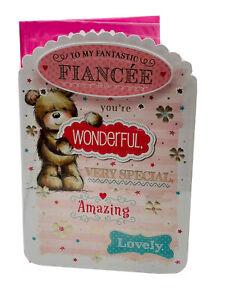 TO MY FANTASTIC FIANCEE*** LARGE CARD **** BEAUTIFUL LONG VERSE ****