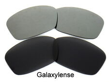Galaxy Replacement Lenses For Oakley Hijinx Black&Ash Gray Polarized 2 Pairs