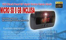 SVEGLIA OROLOGIO SPIA + SD 8 GB 1920x1080 FULL HD NIGHT VISION MOTION DETECTOR