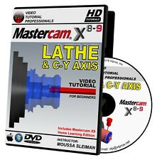 MASTERCAM X8-X9 LATHE & C-Y AXIS Video Tutorial Training Course in 720P HD