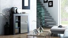 Modern 75cm Sideboard Cabinet Cupboard Buffet - High Gloss Door - LED - K1D