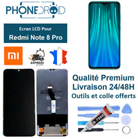 Écran complet LCD + Tactile Xiaomi Redmi Note 8 Pro Black + Outils, stock FR
