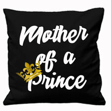 MOTHER OF A PRINCE AND SON OF A QUEEN CUSHION COVER MOTHERS DAY MUM SON KID BOY