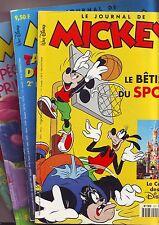 bandes dessinées: lot 4 magazines journal de mickey en l'etat (voir description)