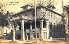 "Jacksonville FL ""The Osceola Hotel"" in 1911 RPPC Real Photo Postcard"