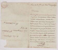 Lettre de la section du Contrat social pour les Frères d'Armes de la Vendée.1793