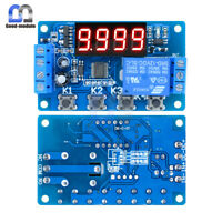 4-digit 12V LED Display adjustable Delay Relay Programmable Timer Control Switch