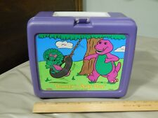 "Barney & Baby Bop (1992) LUNCHBOX ~PBS Kids~ Ltd Promo ""Thermos Co."" Vtg"