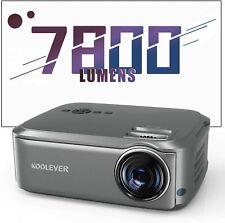 Heimkino Beamer, 1080P Full HD, 7800 Lumen, LCD LED Beamer Video Projektor