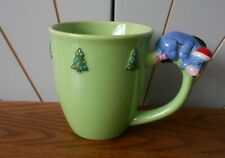 EEYORE large mug DISNEY STORE mini figure handle CHRISTMAS TREES Winnie the Pooh