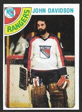 1978-79 TOPPS HOCKEY , # 211 , JOHN DAVIDSON , NEW YORK RANGERS