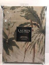RALPH LAUREN SHOWER CURTAIN 72 X Palm Leaf Print 100 COTTON Fabric