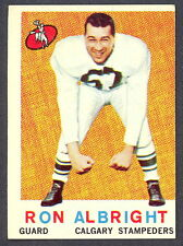 1959 TOPPS CFL FOOTBALL 23 RON ALBRIGHT EX-NM CALGARY STAMPEDERS