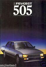 Auto Brochure - Peugeot - 505  - 1988 - Francais French language (AB450)