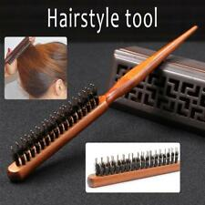 UK Salon Wooden Comb Hair Teasing Brush Handle Back Comb Natural Boar Bristle