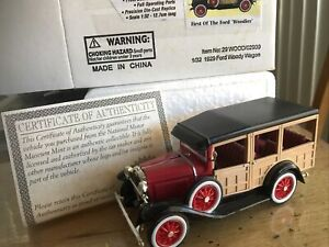 1929 Ford Model A Woody Station Wagon 1/32 COA Nat Museum Re A71