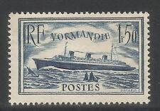France 1935 SS Normandie dark blue--Attractive Ship Topical (300) MH