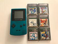Game Boy Color Türkis + 6 Game Boy color Spiele