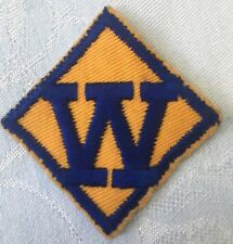 Vintage Boy Scout Weblo Blue and Gold Patch