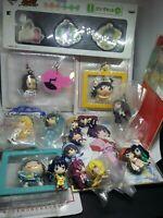 20pc Bakemonogatari figure keychain strap charm pin badge kawaii Japan anime lot