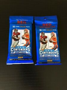 2021 panini contenders draft picks football cello packs ship within Canada only