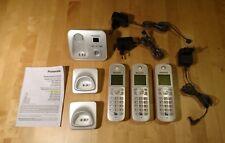 Panasonic Schnurloses Telefon 3 Mobilteile + Stationen KX-TGA682EX / KX-TG6821G