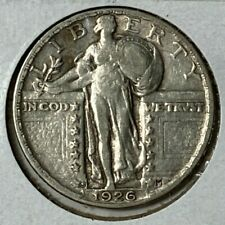 1926 S Extra Fine XF Standing Liberty US Silver Quarter 25C