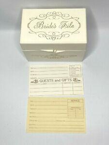 Vintage Brides File Box Wedding Planner Card Organizer Guest List Cottage White