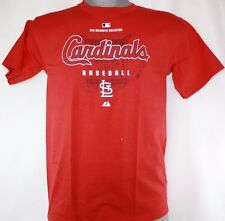 NEW Youth Kids Majestic St Louis CARDINALS Baseball Authentic Collection Shirt