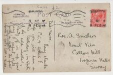 Miss A. Smithers, Mount View, Callow Hill, Virginia Water 1912 Postcard, B153