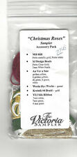 Christmas Roses Sampler  by The Victoria Sampler accessory pack