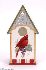 Lenox Winter Greetings Cardinal Birdhouse Holiday Votive Candle Holder Euc 7653