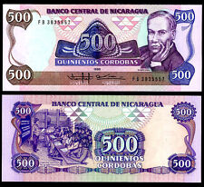 Nicaragua 500 Cordobas 1985 P 155 Unc