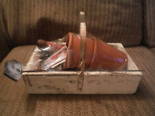 Vintage Gardening Box w Metal Handle, Pots, Shovel, Seeds, Chives Stake & Others