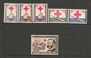 Belgium 1959 Red Cross Set CTO with Gum