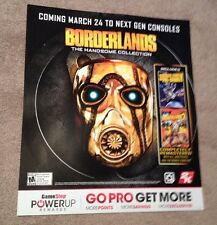 Rare- Borderlands - The Handsome Collection Promo Display Poster 28X24 Inches