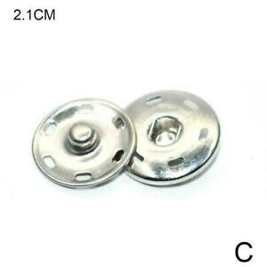 1*button METAL SEW-ON SNAP FASTENERS POPPERS HUGE PRESS STUDS SIZES NEW E5Y5