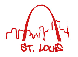 Abstract St. Louis Skyline Vinyl Sticker / Decal / Stencil #1041 - Made to Order