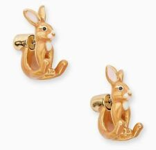 KATE SPADE 12K Gold Plated Bunny Rabbit Ear Jacket Earrings #WBRUF756
