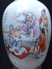 Grand vase chine 31cm encens burning censer Old Chinese ceramic marked XX