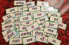 RECEPTION CLASS WORDS -  FLASH CARDS  - HOME/CLASS -READ/WRITE/SPELL-SCHOOL-LEGO